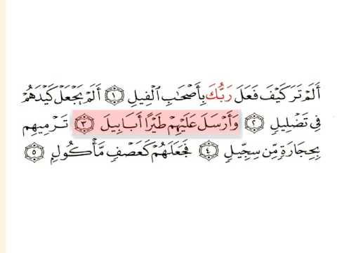 Al Feel-surat 105-Huthaify