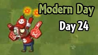 Plants vs Zombies 2 - Modern Day - Day 24: Super-Fan Imp