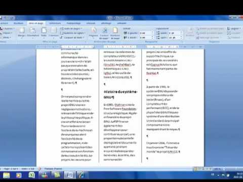 Montage de brochures avec microsoft word 2007 youtube - Comment faire une brochure sur open office ...
