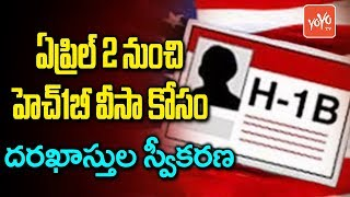 H-1B Visa Application Process to Begin from 2nd April 2018