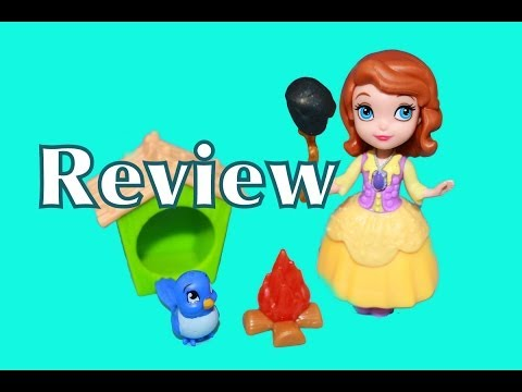 Sofia the First Buttercup Troop Adventure TOY REVIEW Camping Marshmallow Smores AllToyCollector