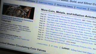 Collecting Silver Coins Melt Value Using Blue book & Coinflation