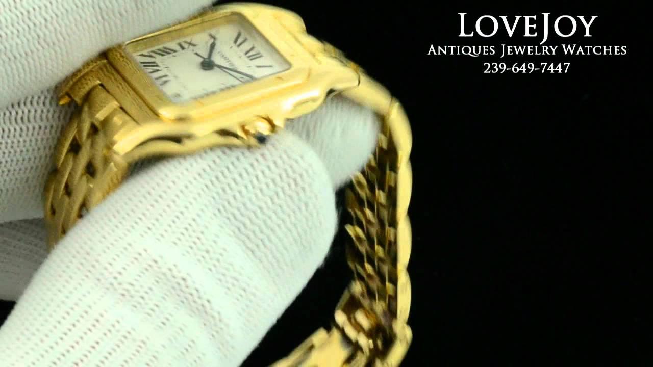 Cartier 18k Gold Watch Cartier 18k Solid Yellow Gold