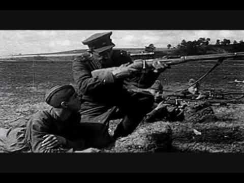 Mosin Nagant PU sniper rifle - WW2 FOOTAGE