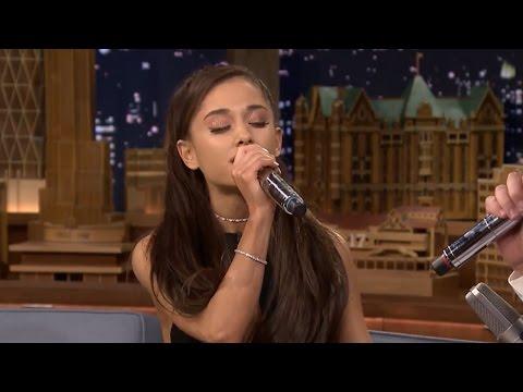 Ariana Grande's Perfect Celine Dion Impression & EW! Skit