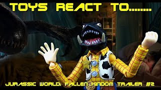 Toys React To Jurassic World: Fallen Kingdom Official Trailer #2 - Stevie's Toy Room
