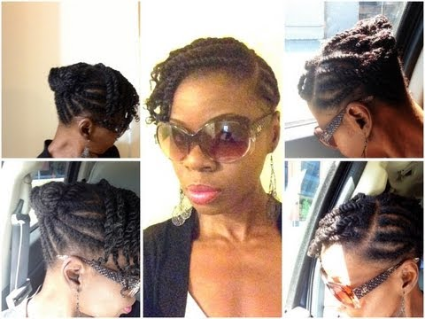 Twist Out Styles on Short Natural Hair Natural Hair|flat Twist