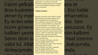 Nazar duası ''Türkçe açıklamalı''