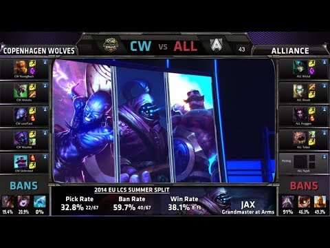 Copenhagen Wolves vs Alliance | S4 EU LCS Summer 2014 SuperWeek 7 Day 3 | CW vs ALL W7D3 G1
