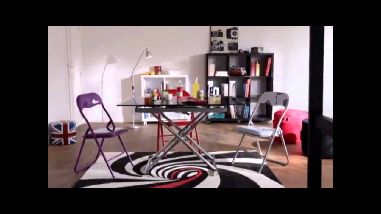 Lit mezzanine et banquette clic clac design youtube - Banquette lit clic clac ...