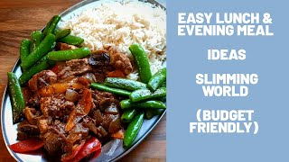 Easy Lunch & Evening Meal Idea Slimming World Budge Friendly