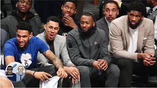 What was so funny on the 76ers' bench? | Jalen & Jacoby