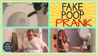 FAKE POOP PRANK - OUR FIRST OFFICIAL PRANK!