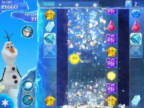 Frozen Free Fall Level 122 Live Action Play Walkthrough
