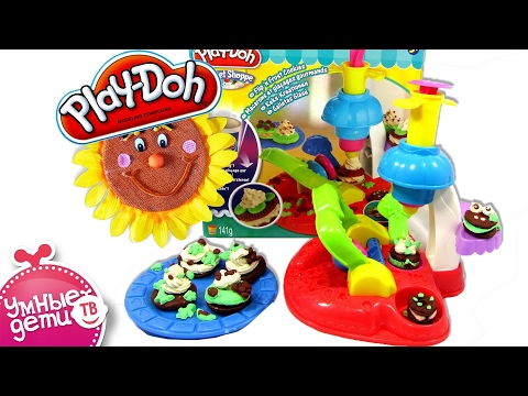 Игровой набор Фабрика печенья. Обзор и как лепить из пластилина. На русском. A0320. Hasbro