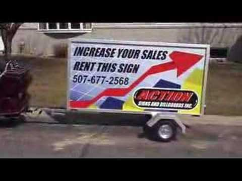 4 x 8 mobile sign trailer