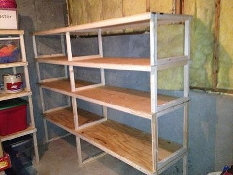 building wood utility shelves