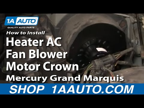 How To Install Replace Heater AC Fan Blower Motor Crown Victoria Grand Marquis 7