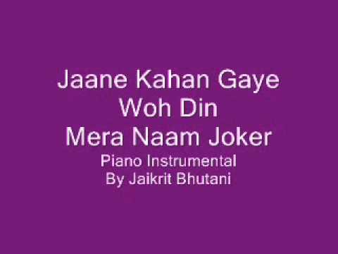 Jaane Kahan Gaye Woh Din - Mera Naam JokerPiano