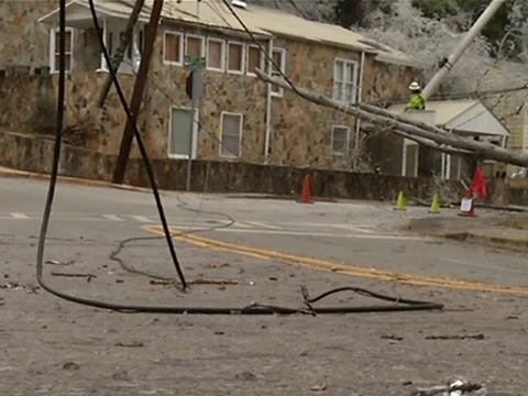 Thousands Without Power in Ga. Ice Storm