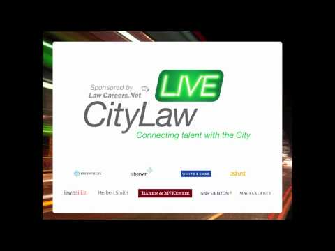 Panel chair Cliff Fluet leads a discussion on City law life with Paul Randall (Ashurst LLP), Delphine Currie (SJ Berwin LLP), Anthony Kenny (The Boston Consu...