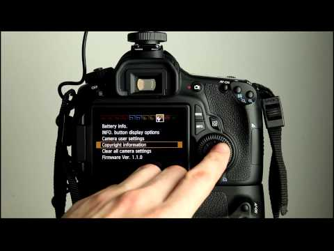 Canon EOS 60D Tutorial 11 - Camera Setup Menu 3