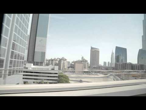 Next Station: Burj Khalifa/Dubai Mall - Dubai Metro oct 2012 HD Quality