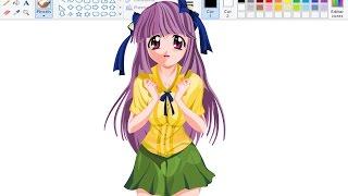 Desenhando Anime no Paint - Mariko Kurama - Elfen Lied