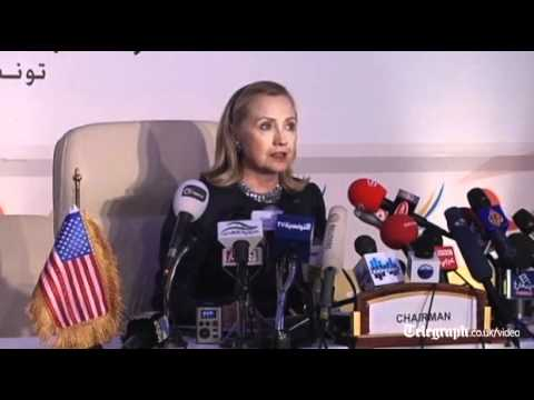 Hillary Clinton urges Assad allies to stop arming Syria
