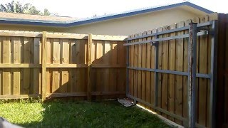 painting stain the fence roll vs spray jose cubas painting the wood. Black Bedroom Furniture Sets. Home Design Ideas