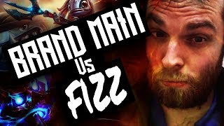 Brand Mid vs Fizz - Road to diamond season 8 league of legends