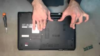 Ремонт ноутбука. Замена модуля памяти в ноутбуке Fujitsu AH532