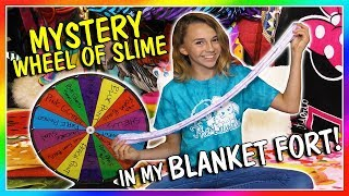 MYSTERY WHEEL OF SLIME IN MY BLANKET FORT | We Are The Davises