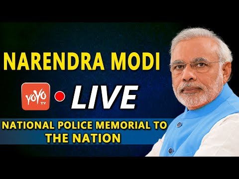 Modi LIVE | Modi Dedicates the National Police Memorial to the Nation | YOYO TV Channel