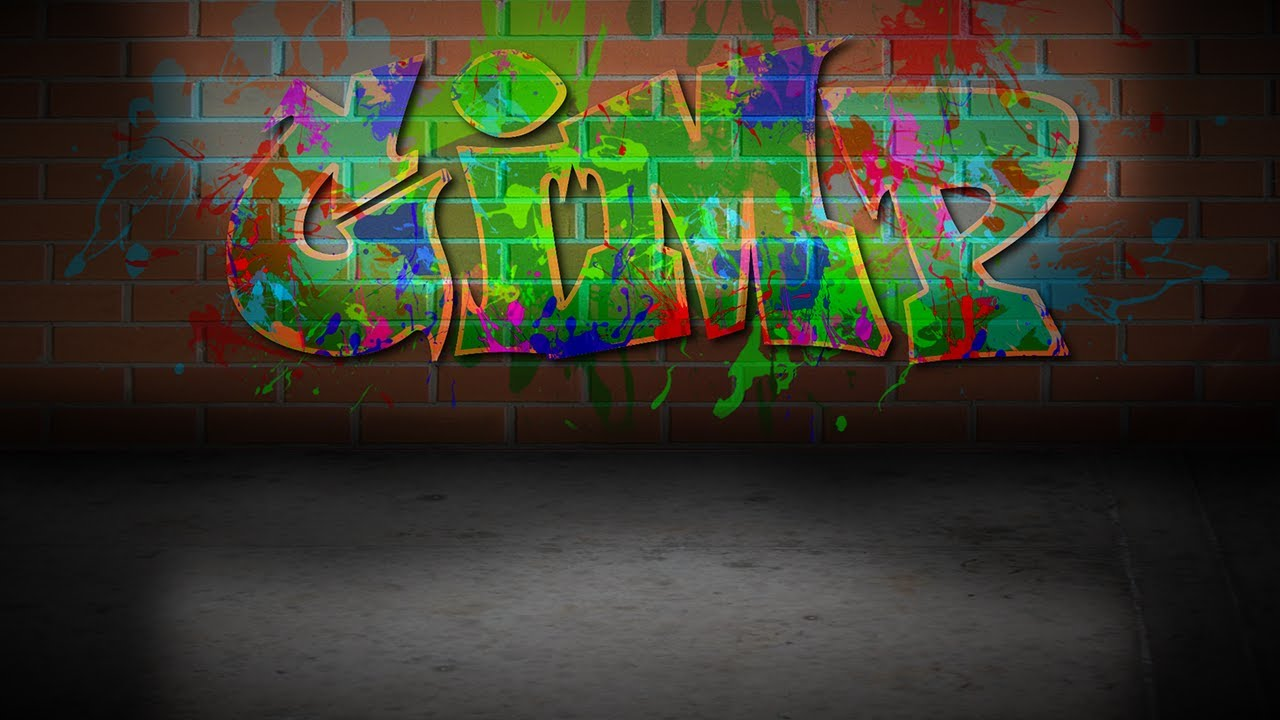 Graffiti smoke effect