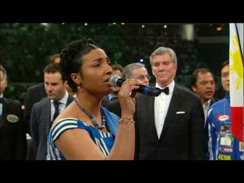 Soraya Simons sings Ghana National Anthem