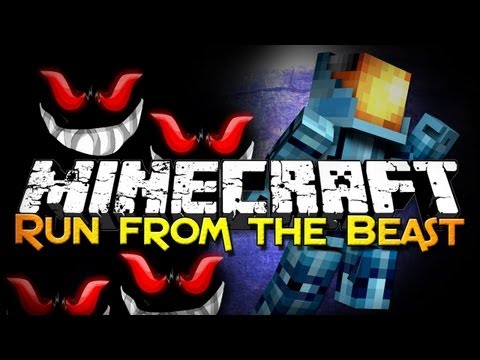 Minecraft: Run From The Beast w/ Friends - Poor Fluffy (Mini-Game)