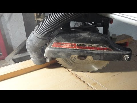 Easy dust collection on radial arm saw