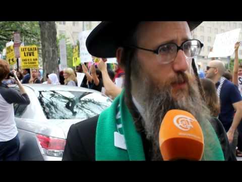Jewish Rabbi condemning Israeli attack on Gaza