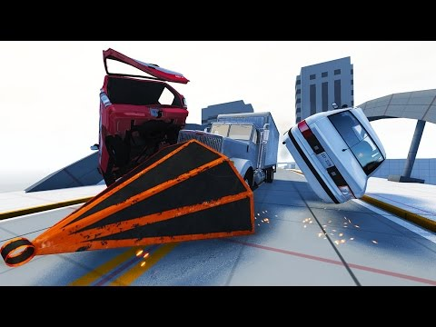 INSANE TRUCK WEDGE DESTRUCTION! - BeamNG Drive Crash Junction Scenarios