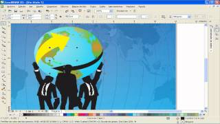 TUTORIAL COREL DRAW: Wallpaper recorre tu mundo
