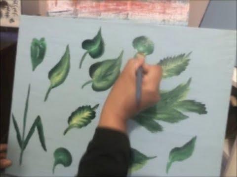 Pintando hojas artemania por artemaria youtube - Pintar con acrilicos paso a paso ...