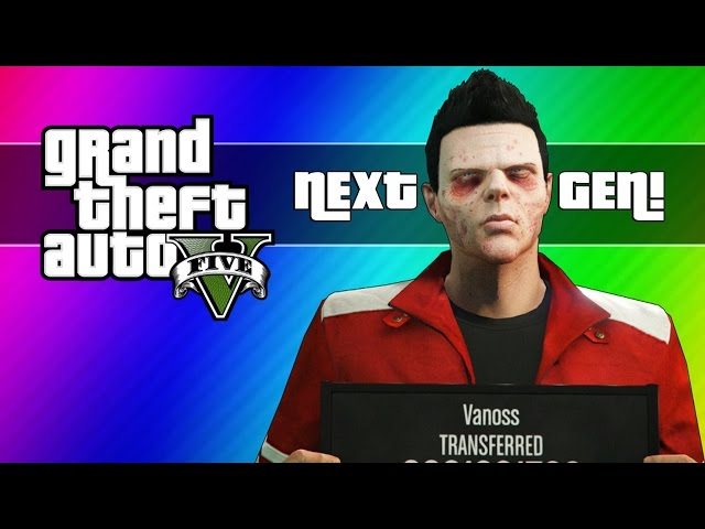 GTA 5 Next Gen Funny Moments - Zombie Face, First Person, Spin Glitch, New Plan, & More!