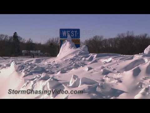1/27/2014 Stearns County, MN Blizzard Snow Drift Cleanup