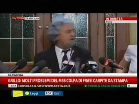 28/10/2013 M5S Beppe Grillo in Conferenza stampa Sky TG24