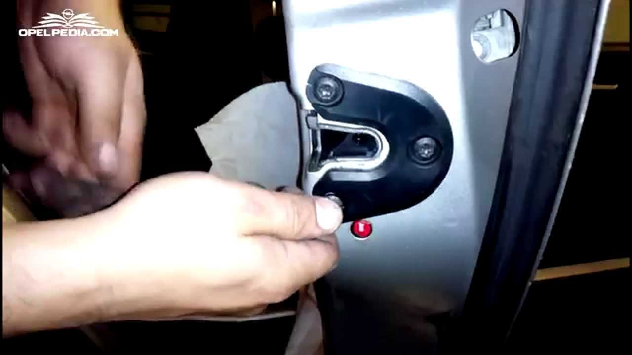 opel signum  vectra c tutorial  how to change door lock