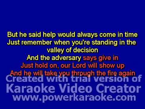 Through The Fire Karaoke video