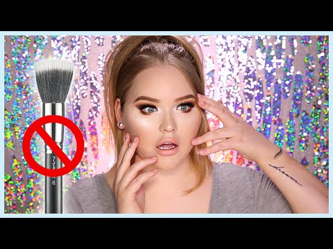 FULL FACE USING ONLY MY FINGERS (NO BRUSHES) Challenge | NikkieTutorials