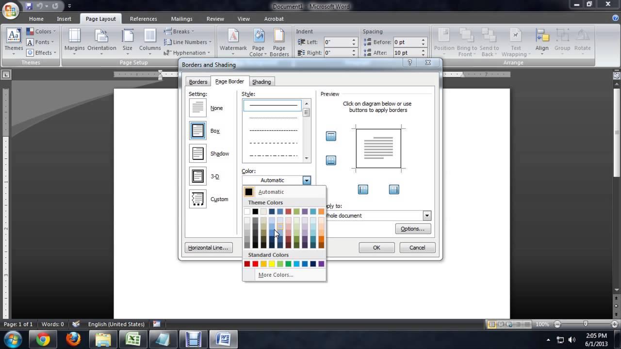 Microsoft Page Color Picture