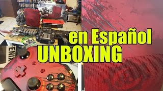 Unboxing Consola -Gears of War 4- |XBOX ONE S| EL OMEN SANGRIENTO